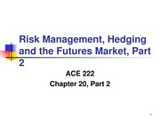 Chapter 20 Part Two Power Point ACE 222 Fall 2013