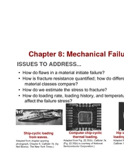 Chapter 8- Mechanical Failure