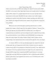 Week 7 Research Paper
