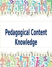 3Pedagogical Content knowledge.pptx
