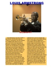 LOUIS ARMSTRONG CLASS NOTES