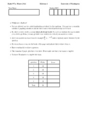 Math 307 MidTerm 1 Winter 2013