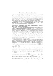 matrix of a linear transformation