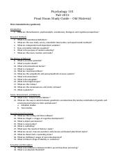 Final Exam Study Guide - Old Material.docx