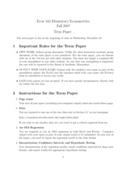 Econometrics term paper