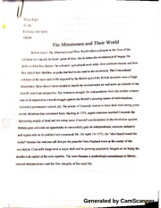 The Minute Men  Of The World Essay