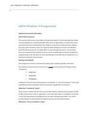 Answered-ADFP Module 4 assignment.docx