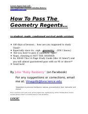 geometry regents study guide 2018