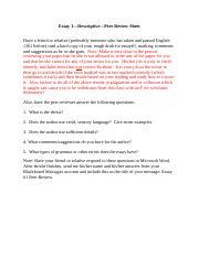 essay 1 1 Análisis de la parte 1 del writing: essay estructura, lenguaje y registro a utilizar para obtener la máxima puntuación.