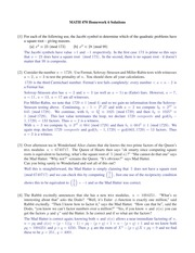 Homework 6 Solution Spring 2015 on Number Theory
