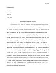 Lord of the Flies Essay.doc