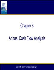 Chapter 06 Annual Cash Flow Analysis_12e