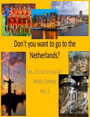 Don't you want to go to the Netherlands power point