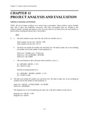 FINA 3320 Ch 11 Solutions.docx