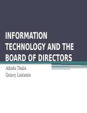 INFORMATION TECHNOLOGY AND THE BOARD OF DIRECTORS.pptx