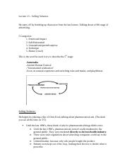 Lecture 13 – Selling Sickness_Notes_p1