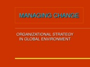 Chapter 7 - Organisational Strategy In Global Environment