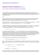 Induction Proofs Purplemath Introduction