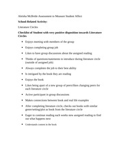 Creating an Assessment to Measure Student Affect-EDU 521
