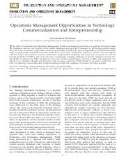 Operations Management Opportunities in Technology Commercialization and Entrepreneurship.pdf