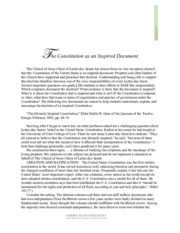 Lesson 5 Readings - The Constitution as an Inspired Document