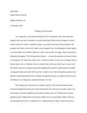 Fiction essay english 102 thesis and outline