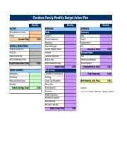 unit 4a davidson family budget action plan sheet davidson family
