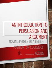 Introduction to Persuasion and Argument.ppt