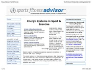 1-27 Energy Systems in Sport & Exercise
