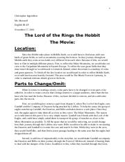 The Hobbit English project