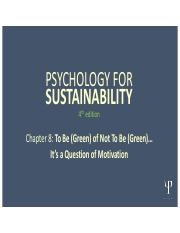 Psychology for Sustainability 4e PP Slides_ Chapter 8