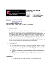 THM 3211 Syllabus Fall 2012 Brown