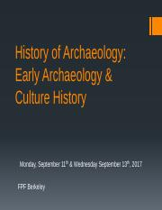 Lectures 4 & 5 - History of Archaeology - Early Archy and Culture History.pdf
