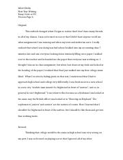 Essay 2 Life at YU Process Page 6