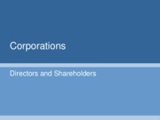 Lecture_Four_-_Corporations_Directors_and_Shareholders