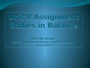 Unit 8 Assignment Bodies in Balance