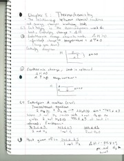 CHM 142 Thermochemistry Notes