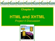 Lecture 7- HTML and XHTML