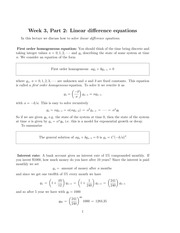 Linear difference equations