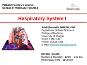 UOS_Pharm. Resp lecture 1. 2014-15 (1)