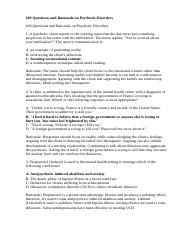 109 Questions and Rationale on Psychotic Disorders.doc