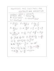 Physics 196 Equation Sheet