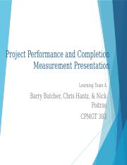 Project Performance and Completion Presentation