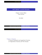 MAT186 Chapter 1 Functions