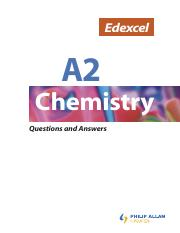 Edexcel A2 Chemistry Questions and Answers (2)