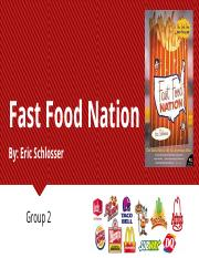 Book Presentation - Fast Food Nation