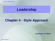 Ch4StyleApproach