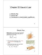 Chapter 22_Gauss_Law