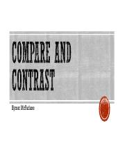 Compare and contrast pdf
