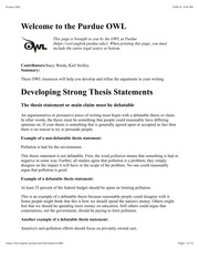 L3_Developing Strong Thesis Statements